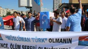 Kayseri'de Çin Zulmüne Kınama