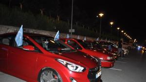 Modifiyeli Araç Sahiplerinden 'Doğu Türkistan' Eylemi