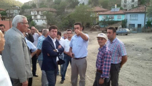 CHP Milletvekili Tüzün, Sel Felaketi Yaşanan Tozman Köyünde