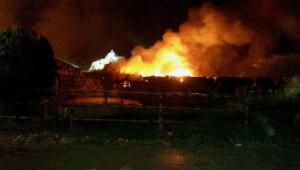 Tire'de Kağıt Fabrikasında Yangın (Ek Fotoğraf)