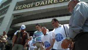 Gaziantep'te Kesk Üyelerinden Bordro Yakma Eylemi