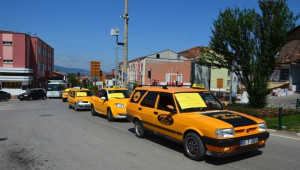 Tokat'ta Taksici Eylemi