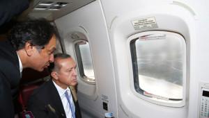 Erdoğan, Helikopterle Yapımı Devam Eden Projeleri İnceledi