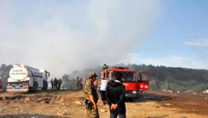 Çöplük Yangınına Helikopterli Müdahale