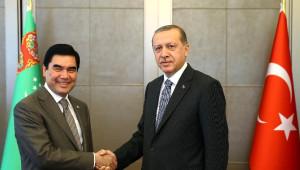 Cumhurbaşkanı Erdoğan, Berdimuhamedov ile Bir Araya Geldi