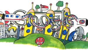 8 Yaşındaki Çocuğun Çizimi Ülkesinin Ana Sayfasını Süsledi