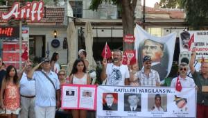 Foça'da, 'Sessiz Çığlık' Eyleminin 148'incisi Gerçekleştirildi