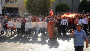 Midyat'ta Terör Olayları Protesto Edildi