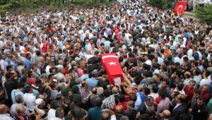 Ankara Şehidini Uğurladı