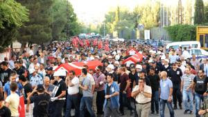 Dargeçit'te Şehit Düşen 4 Polis, Törenle Memleketlerine Uğurlandı