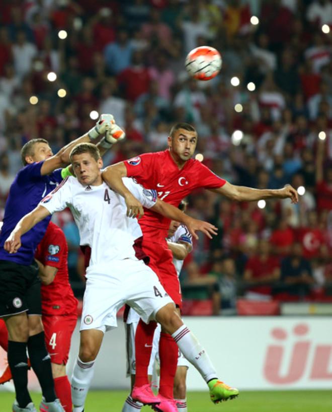 Türkiye: 0 - Letonya: 0 (İlk Yarı)