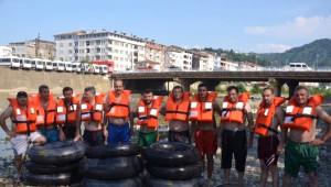 Solaklı Deresi Şambrel Raftingle Coştu