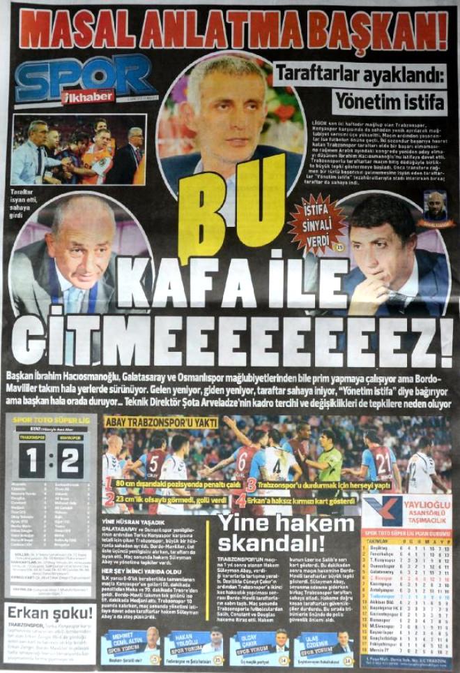 Trabzonspor'da Çöküşün Faturası Hakemler, Yönetim ve Şota'ya Çıkarıldı