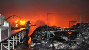 Sorgun'da Tekstil Fabrikasında Yangın