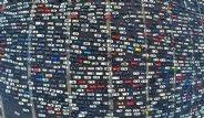 Çin'de 50 Şeritlik Yol Kilitlendi