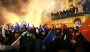 AK Partili Vatandaşların Sokaklara Taşan Zafer Coşkusu