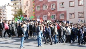 Diyarbakır'da Silvan'a Destek Yürüyüşü