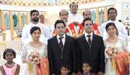 İkiz Damatlarla İkiz Gelinleri, İkiz Rahipler Evlendirdi