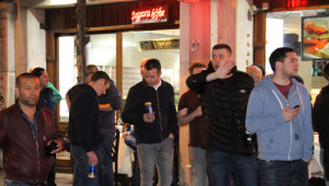 Taksim'de Celtic Taraftarları Taşkınlık Çıkardı