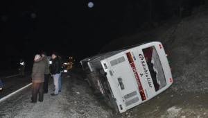 Fabrika İşçilerini Taşıyan Otobüs Devrildi: 1 Ölü, 40 Yaralı