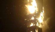 Dubai'de 63 Katlı Bir Gökdelende Yangın Çıktı