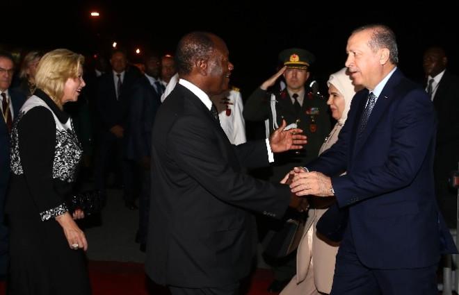 Cumhurbaşkanı Erdoğan Fildişi Sahili'ne Geldi