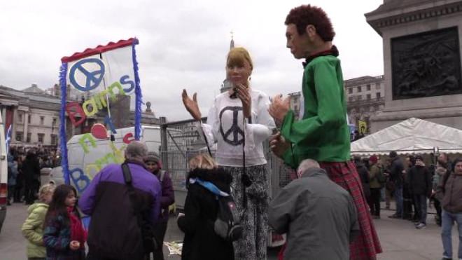 İngiltere'de Nükleer Silah Karşıtı Gösteri