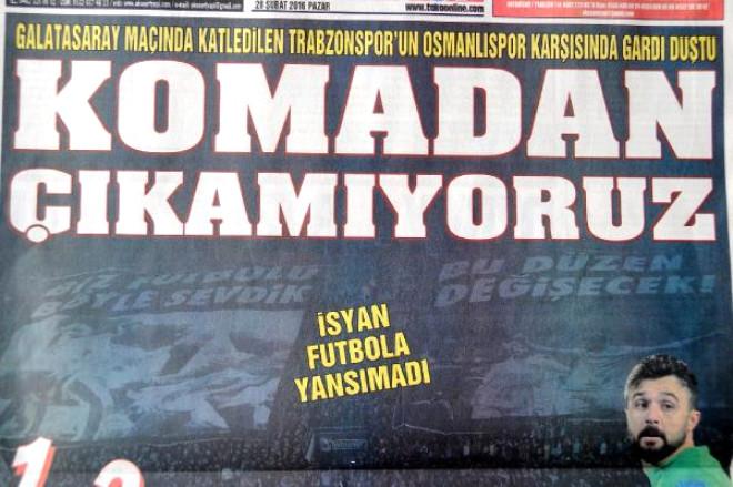 Trabzonspor'a Sert Eleştiri