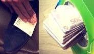 Görgüsüzlüğün Dibi: 200 Lira ile Ayakkabısını Siliyor