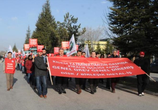 Eskişehir'de Metal İşçileri Yürüdü