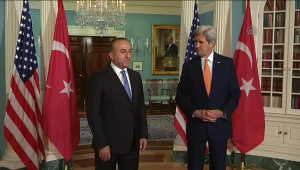 Dışişleri Bakanı Çavuşoğlu, ABD Dışişleri Bakanı Kerry'le Görüştü