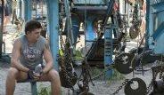 Ukrayna'da Hurda Metallerden Yapılan Açık Hava Spor Salonu