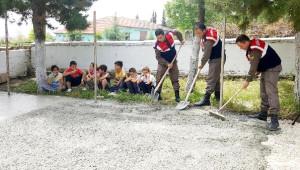 Jandarmadan Öğrencilere Basketbol ve Voleybol Sahası