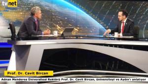 Adü Rektörü Bircan, Ulusal Medyada Adü'yü ve Aydın'ı Anlattı