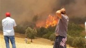 Tatil Cenneti Adrasan'da Korkutan Yangın