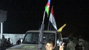 Kerkük'te Şii Türkmenlerden Azerbaycan Bayraklı Işid Operasyonu