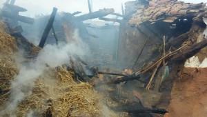 Tekirdağ'da Yangın Yaşlı Çifti Evsiz Bıraktı