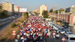 Viranşehir'de Teröre Lanet Yürüyüşü