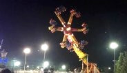 Konya'da Lunaparkta 5 Metre Yükseklikte Asılı Kaldılar