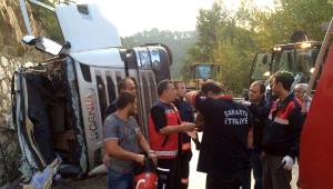 İstinat Duvarına Çarpan Tankerin Sürücüsü Öldü