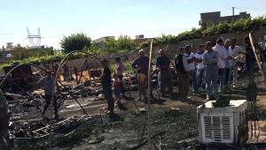 Nusaybin'de Çadırda Yaşayan Ailelerin 2 Çadırı Yandı