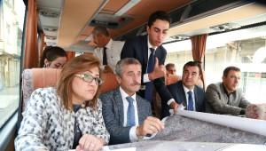 Başkanlar Şahinbey'i Gezdi