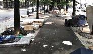 Paris'te Polis Göçmenlere Operasyon Düzenledi