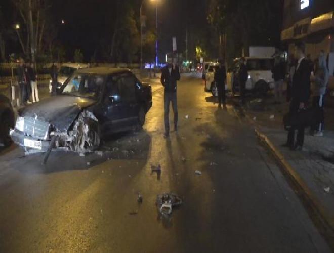 Trafik Kazası Güvenlik Kameralarına Yansıdı