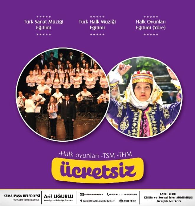 Kemalpaşa'da Kültür ve Sanat Kursları Kayıtları Başladı