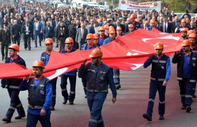 Karabük'te 'Cumhuriyet Yürüyüşü'