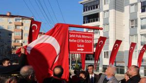 Şehit Kadın Polisin Adı, Edirne'de Evinin Sokağına Verildi