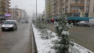 Silvan'da 21 Köy Yolu Kardan Ulaşıma Kapandı