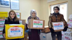 Üniversite Öğrencilerinden Halep'e 110 Kolilik Yardım