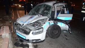 Aydın'da Polis Aracının Kaza Yapması